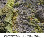 sulphur gas coming out of the... | Shutterstock . vector #1074807560