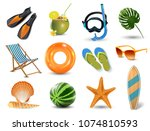illustration of realistic... | Shutterstock . vector #1074810593