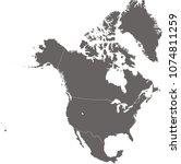 north america map vector... | Shutterstock .eps vector #1074811259
