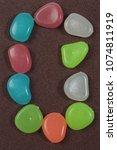 multicolored cheerful alphabet 0 | Shutterstock . vector #1074811919