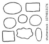 set of hand drawn sketched...   Shutterstock .eps vector #1074813176