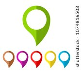 map pin vector icon isolated on ... | Shutterstock .eps vector #1074816503