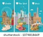 set of vector illustrations... | Shutterstock .eps vector #1074818669