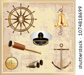 set of navigational elements... | Shutterstock .eps vector #1074818699