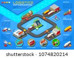 distribution service ... | Shutterstock .eps vector #1074820214