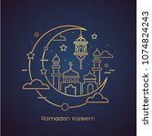 ramadan kareem. islamic... | Shutterstock .eps vector #1074824243