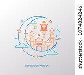ramadan kareem. islamic... | Shutterstock .eps vector #1074824246