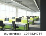 new coworking office interior... | Shutterstock . vector #1074824759