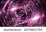 lights pink background with... | Shutterstock . vector #1074831794