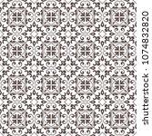 seamless oriental pattern. | Shutterstock .eps vector #1074832820