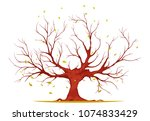 huge tree with large trunk ...   Shutterstock .eps vector #1074833429