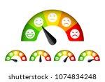customer satisfaction meter... | Shutterstock .eps vector #1074834248