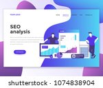 landing page template of seo...   Shutterstock .eps vector #1074838904