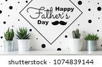 unusual happy father's day... | Shutterstock . vector #1074839144