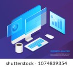 business analysis system ... | Shutterstock .eps vector #1074839354