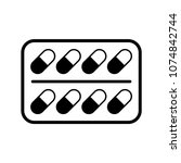 pills icon. flat illustration... | Shutterstock .eps vector #1074842744