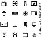 living room icon set | Shutterstock .eps vector #1074854069