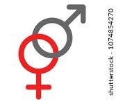 heterosexuality glyph....   Shutterstock .eps vector #1074854270