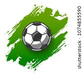 soccer grunge background with... | Shutterstock .eps vector #1074855590
