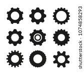 set of  vector image machine... | Shutterstock .eps vector #1074858293