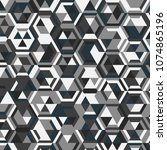 abstract background  geometric... | Shutterstock .eps vector #1074865196