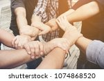 multiethnic ethnic group... | Shutterstock . vector #1074868520