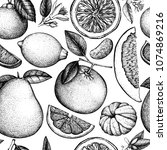 vector seamless pattern with... | Shutterstock .eps vector #1074869216