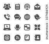 communication icons | Shutterstock .eps vector #107486924