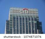 london  april  2018  citigroup... | Shutterstock . vector #1074871076