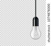 realistic transparent light... | Shutterstock .eps vector #1074878300