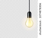 realistic transparent light... | Shutterstock .eps vector #1074878306