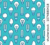 light bulbs seamless pattern... | Shutterstock .eps vector #1074880418
