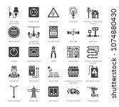 electricity engineering vector...   Shutterstock .eps vector #1074880430