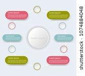 business data infographic ...   Shutterstock .eps vector #1074884048