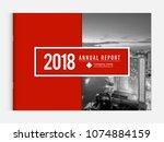 cover design for annual report... | Shutterstock .eps vector #1074884159