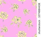 flowers background  pattern... | Shutterstock .eps vector #1074884438