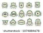 vintage badge vector retro... | Shutterstock .eps vector #1074884678