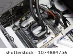 close up of water cooled high... | Shutterstock . vector #1074884756