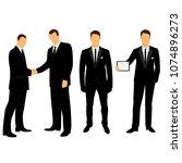 wedding men's suit and tuxedo.... | Shutterstock .eps vector #1074896273