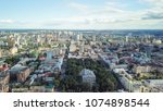 panoramic view of the city of... | Shutterstock . vector #1074898544