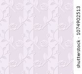 delicate pink floral seamless...   Shutterstock .eps vector #1074902513