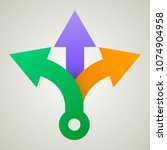 three way direction arrows....   Shutterstock .eps vector #1074904958