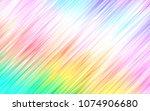 light multicolor  rainbow... | Shutterstock .eps vector #1074906680