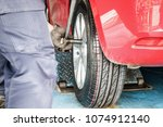 tire replacement service ... | Shutterstock . vector #1074912140