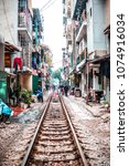 vietnam  hanoi   january 19 ... | Shutterstock . vector #1074916034
