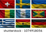 background set wave country... | Shutterstock .eps vector #1074918056