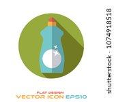 dish soap round flat design... | Shutterstock .eps vector #1074918518