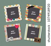 vintage scrapbook picture... | Shutterstock .eps vector #1074918920