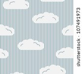 seamless pattern with clouds | Shutterstock .eps vector #107491973