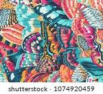 butterfly wings pattern | Shutterstock . vector #1074920459
